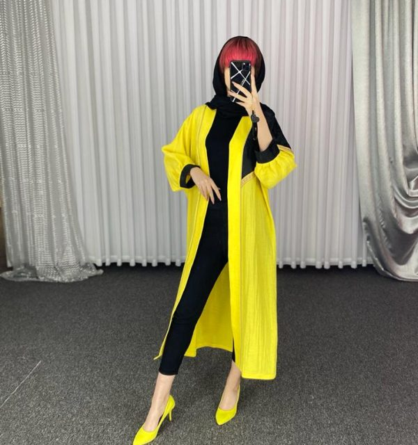 مانتو سال مد مدل شاین بغل مثلثی نوار طلایی