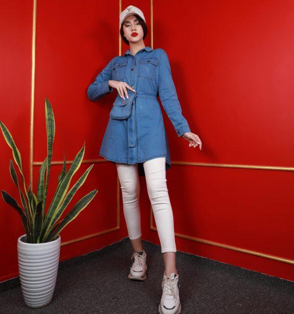 مانتو سال مد مدل جین به همراه کیف