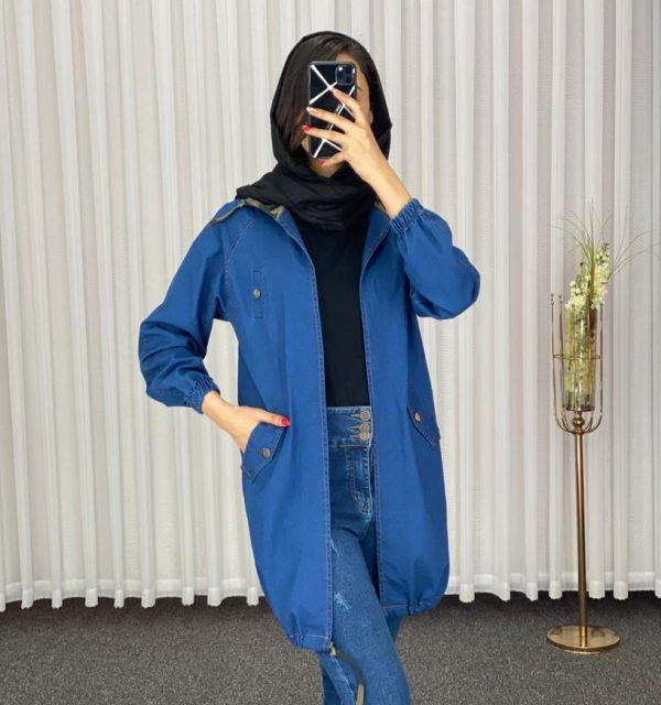 مانتو سال مد مدل جین کلاه چریکی