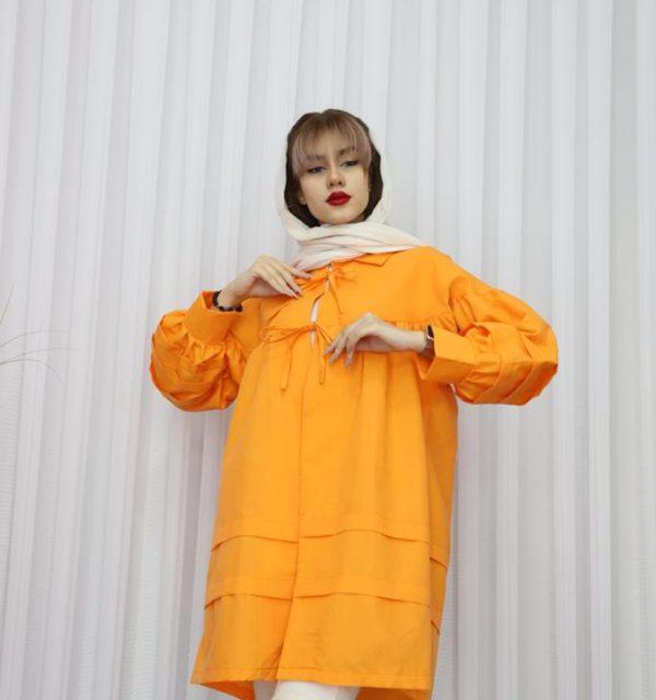 مانتو سال مد مدل عروسکی جلو بند دار ماسیما